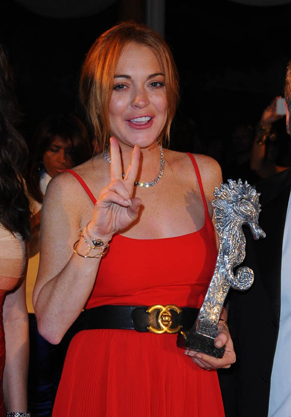 Lindsay Lohan au Ischia Global Film & Music Festival le 15 juillet 2014