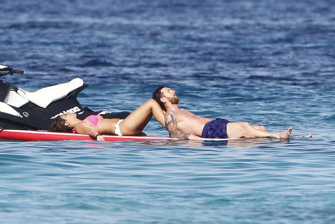 Lionel Messi et sa femme Antonella Roccuzzo profitent de leurs vacances ensemble