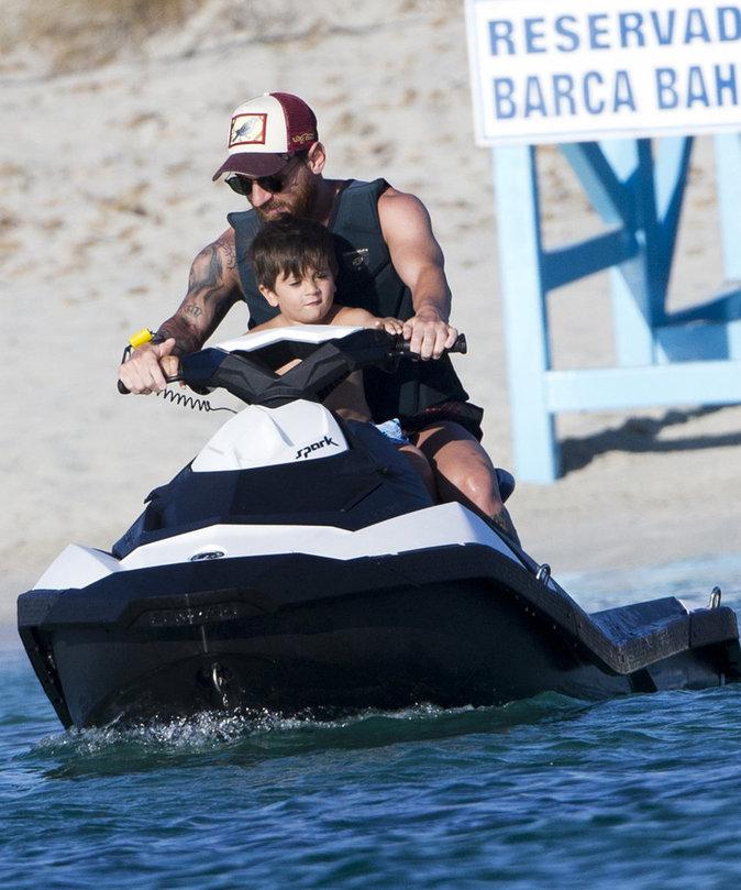 Lionel Messi s'éclate avec ses enfants