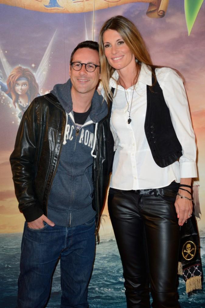 """Billy et Sophie Thalmann lors de l'avant-première de """"Clochette et la fée pirate"""" à Paris, le 25 mars 2014."""
