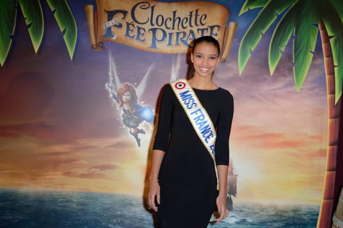 """Flora Coquerel lors de l'avant-première de """"Clochette et la fée pirate"""" à Paris, le 25 mars 2014."""