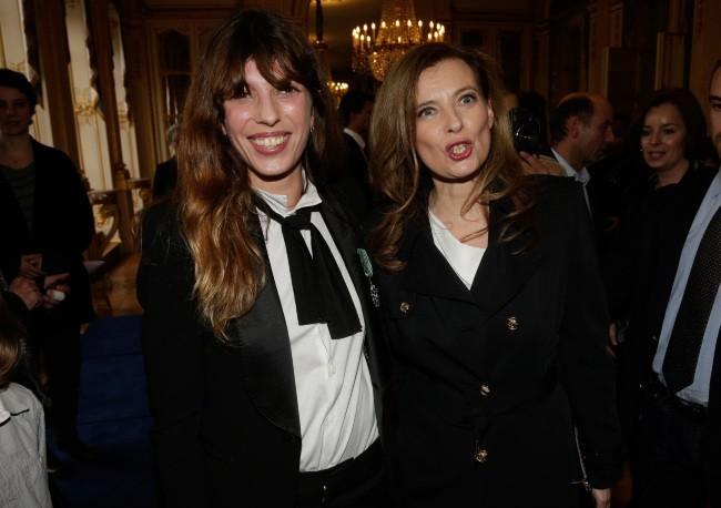 Lou Doillon et Valérie Trierweiler, le 10 avril 2013 à Paris