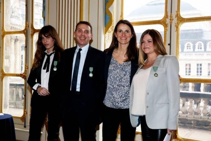 Lou Doillon, Giorgio Bianchi et Charlotte Valandrey aux côtés d'Aurélie Filippetti