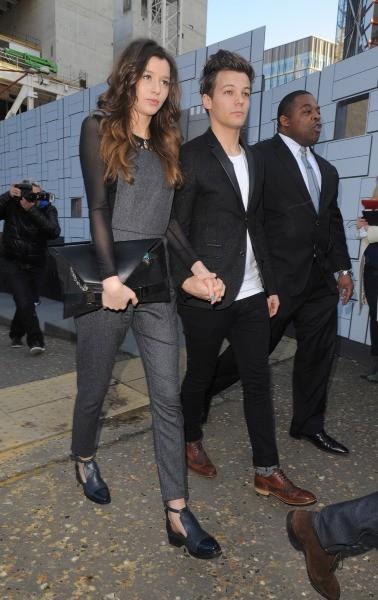 Louis Tomlinson et Eleanor Calder le 17 février 2013 à Londres