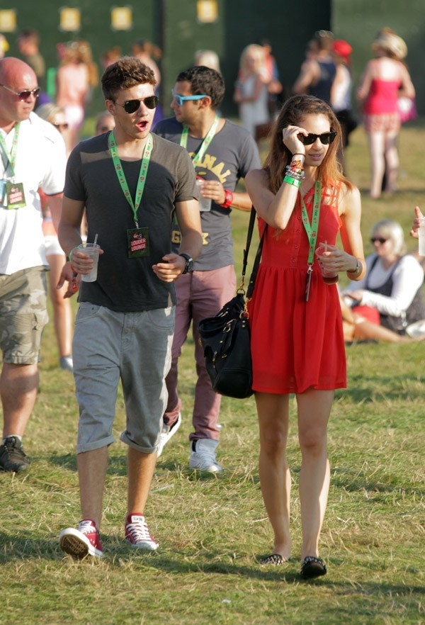 Liam Payne et Danielle Peazer au V Festival le 19 août 2012