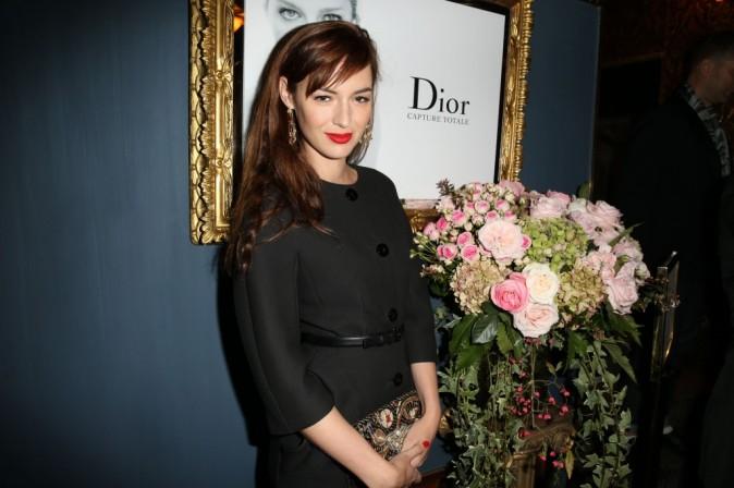 Louise Bourgoin lors du cocktail Dior à Paris, le 24 octobre 2012.