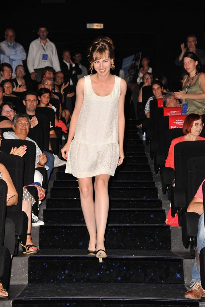 Louise Bourgoin lors de l'avant -première de son film, Un heureux événement, lors du Festival du film francophone d'Angoulême, le 25 août 2011.