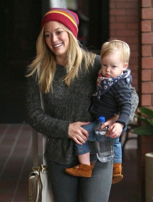 Hilary Duff et son petit Luca