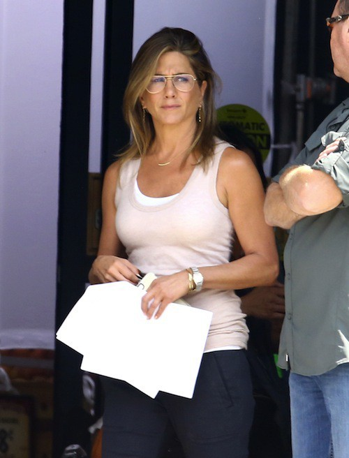 Jennifer Aniston, Justin Theroux, film, tournage, lune de miel, Mother's Day