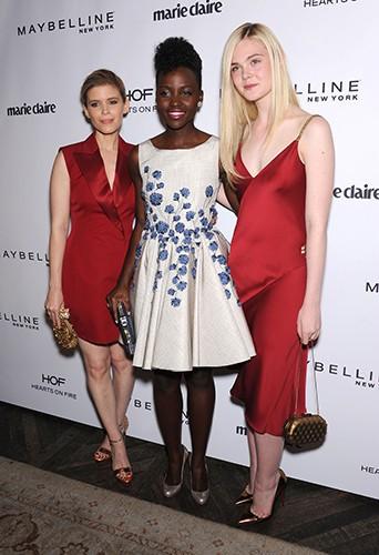 Kate Mara, Lupita Nyong'o et Elle Fanning à Los Angeles le 8 avril 2014