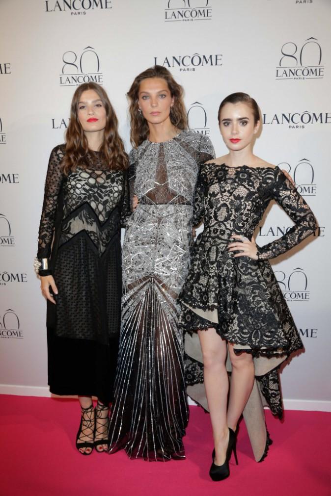 Alma Jodorowsky, Daria Werbowy et Lily Collins le 7 juillet 2015