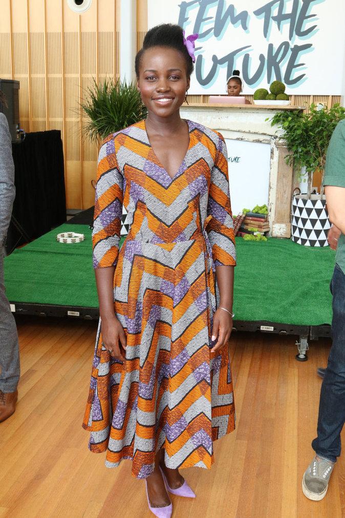 Lupita Nyong'o à un brunch à New York ce dimanche 28 août 2016