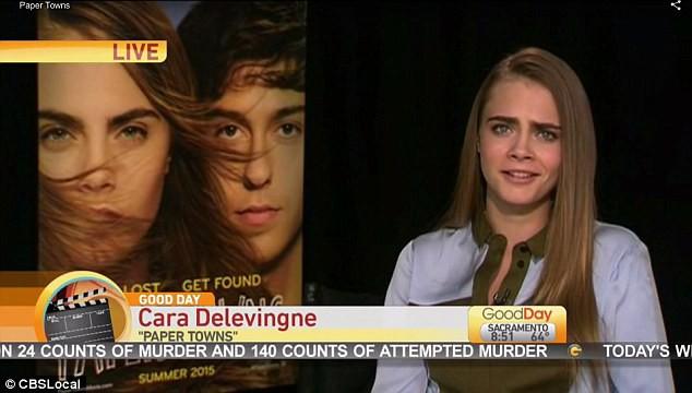 Cara Delevingne en interview pour Good Day Sacramento