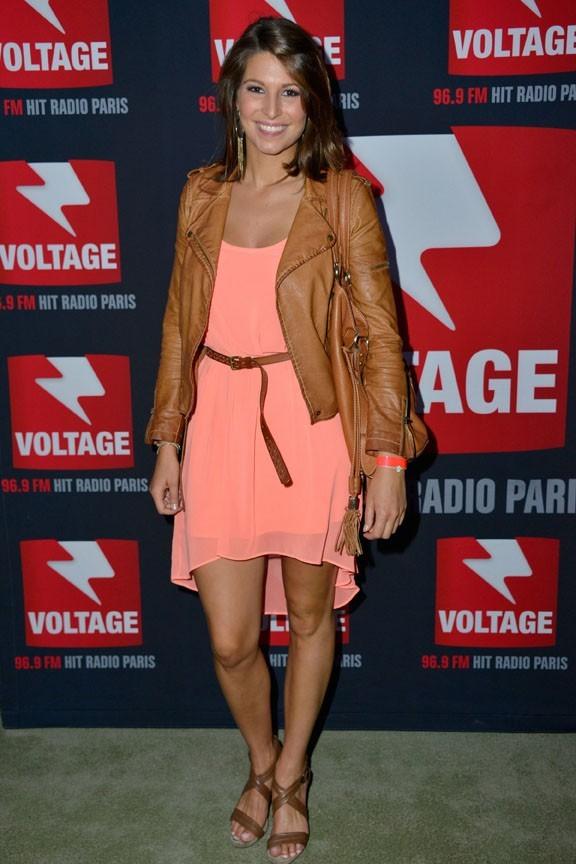 Laury Thilleman au concert Voltage Paris Live organisé à Paris le 8 juin 2013