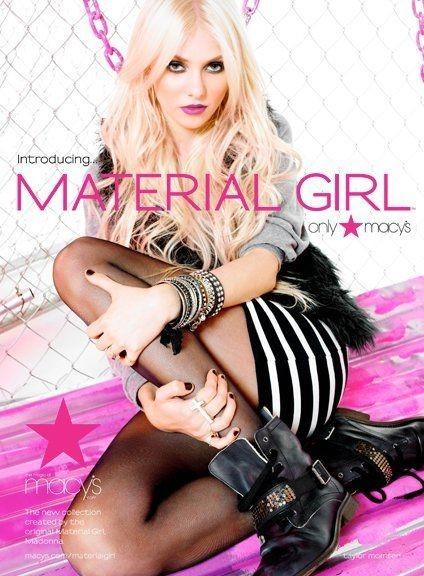 Taylor Momsen en égérie Material Girl !