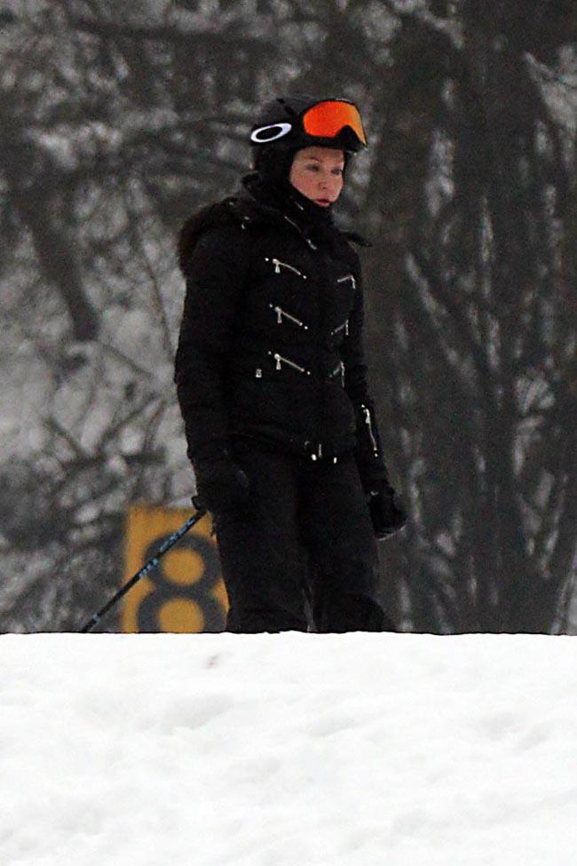 Madonna à Gstaad le 3 janvier 2015