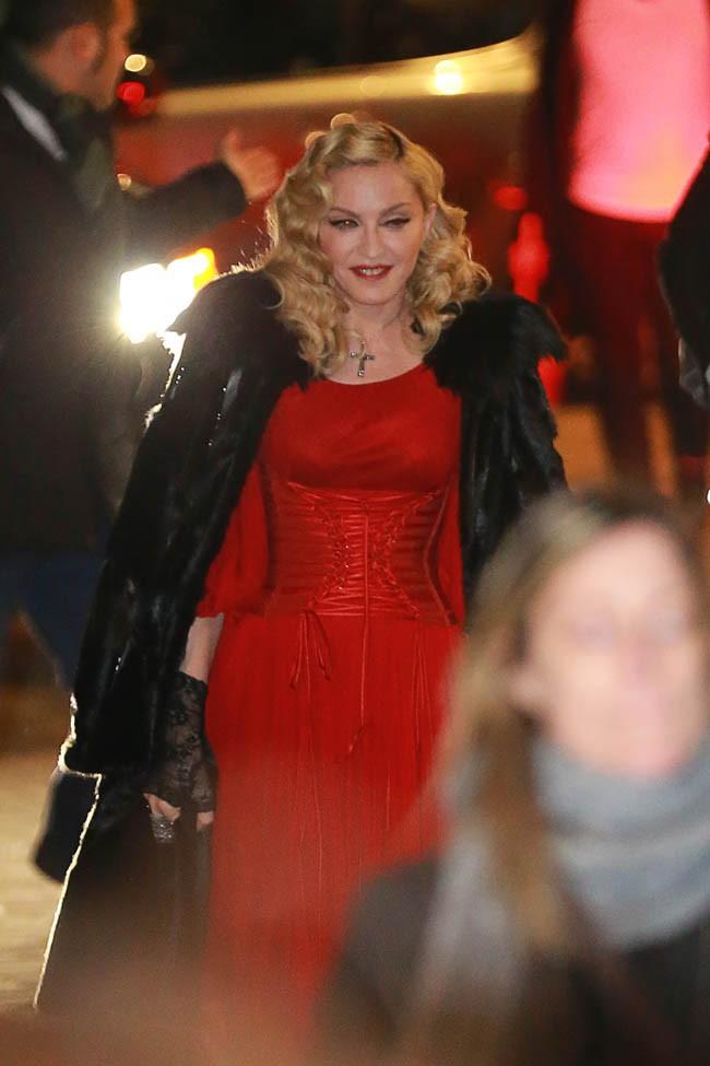 Madonna à Milan le 1er mars 2015