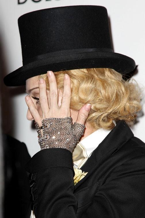 Madonna à l'avant première mondiale de son documentaire Madonna : The MDNA Tour à New-York le 18 juin 2013