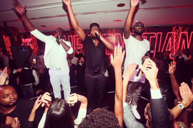 Maître Gims, Akon et Wyclef Jean show font le show au VIP Room de Jean-Roch à Cannes
