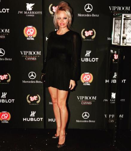 Pamela Anderson au Vip Room de Jean-Roch à Cannes