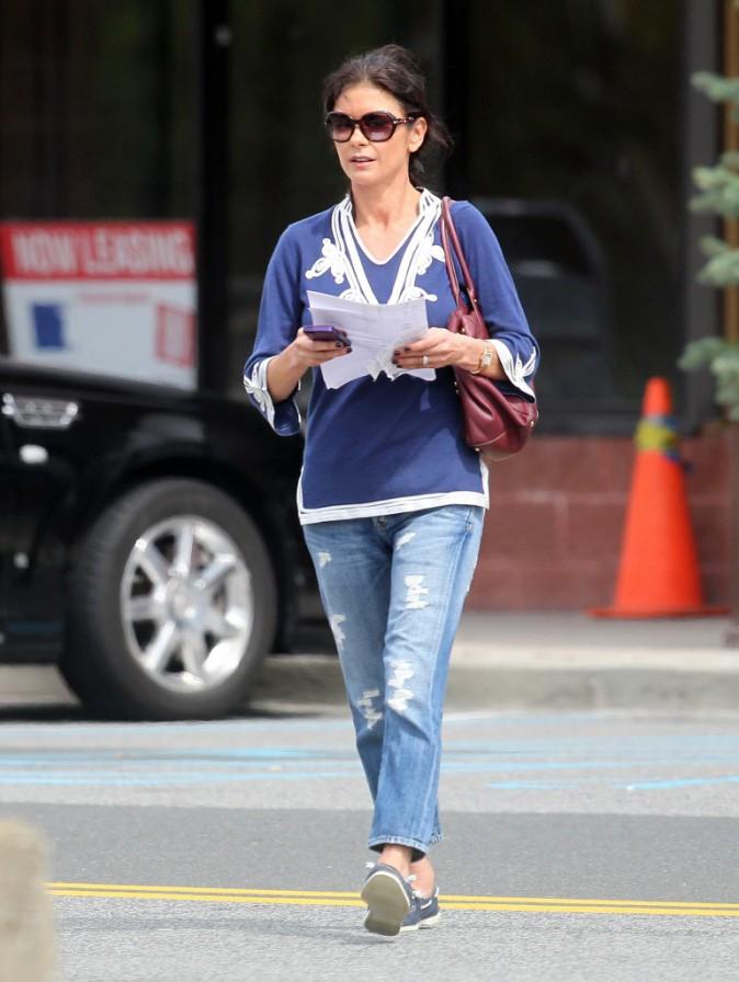 Catherine Zeta-Jones veut garder la face