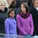 Malia Ann et Sacha Obama, Washington, 21 janvier 2013.