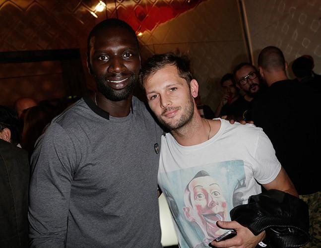 Omar Sy et Nicolas Duvauchelle à Paris le 23 septembre 2013A