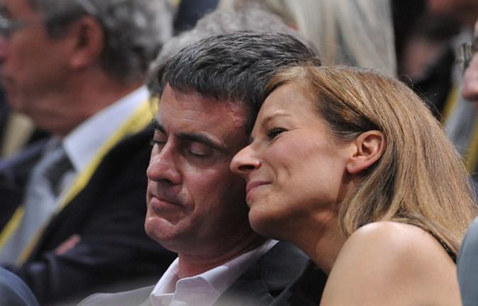 Manuel Valls et Anne Gravoin à la finale du Masters de Paris-Bercy le 2 novembre 2014