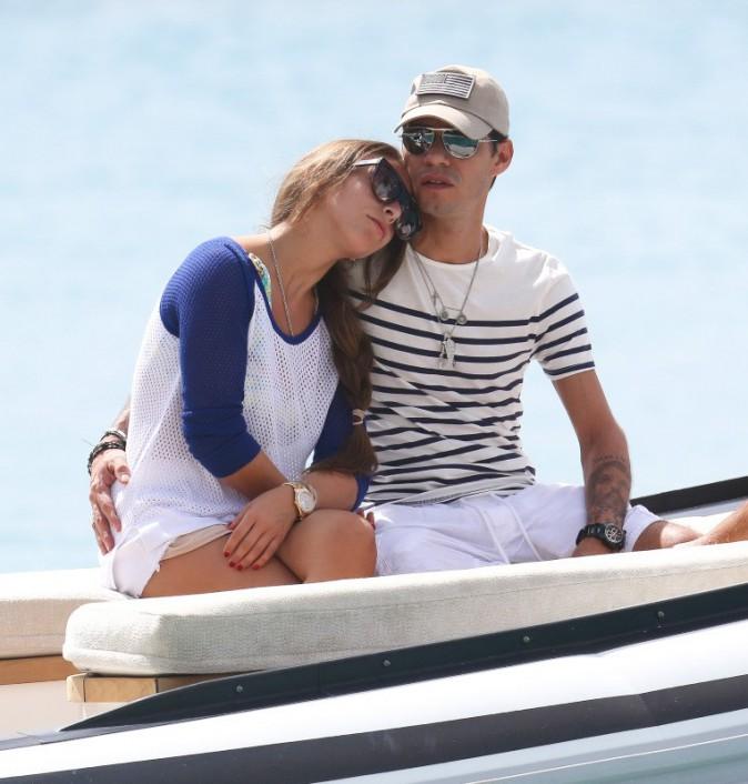 Marc Anthony et Chloe Green à la Barbade, le 31 décembre 2013