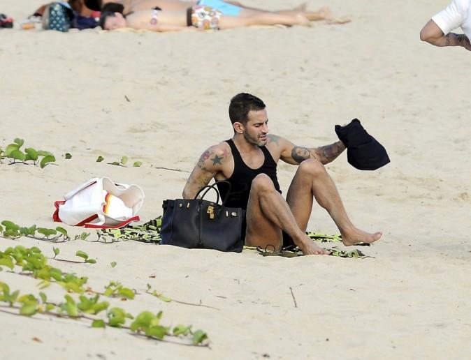 Marc Jacobs et Lorenzo Martone en vacances à Saint Barthélémy, le 28 décembre 2011.