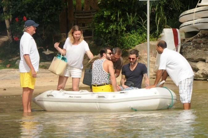 Marc Jacobs sous el soleil de Rio de Janeiro avec Harry Louis le 11 avril 2013