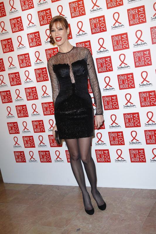 Mareva Galanter lors du Dîner du Sidaction à Paris, le 23 janvier 2014.