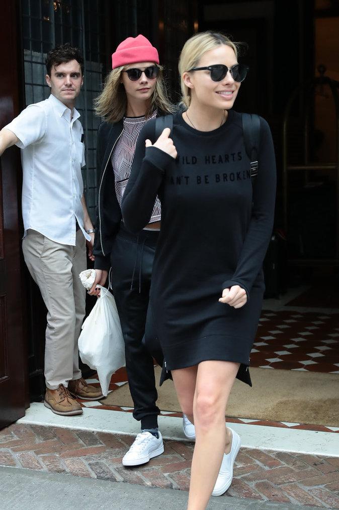 Margot Robbie sort de son hôtel à New York ce mardi 2 août 2016