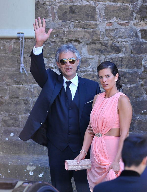 Andrea Bocelli et sa femme