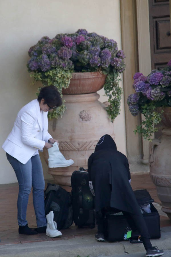 Kris Jenner et Jaden Smith à Florence le 25 mai 2014