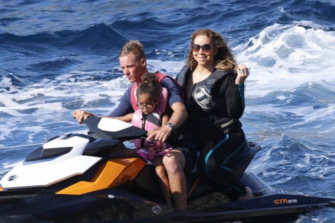Mariah Carey, ses enfants et James Packer le 21 juin 2015