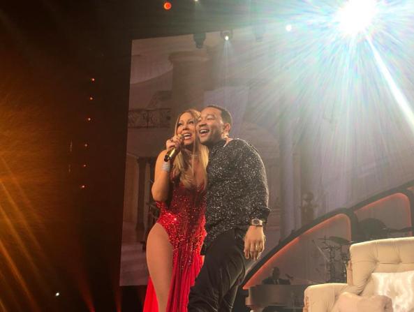 Mariah Carey et John Legend à Las Vegas le 18 juin 2016