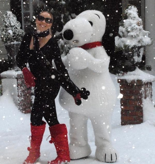 Mariah et son pote Snoopy