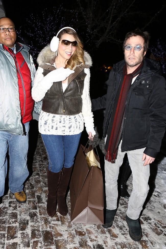 Mariah Carey à Aspen le 24 décembre 2013
