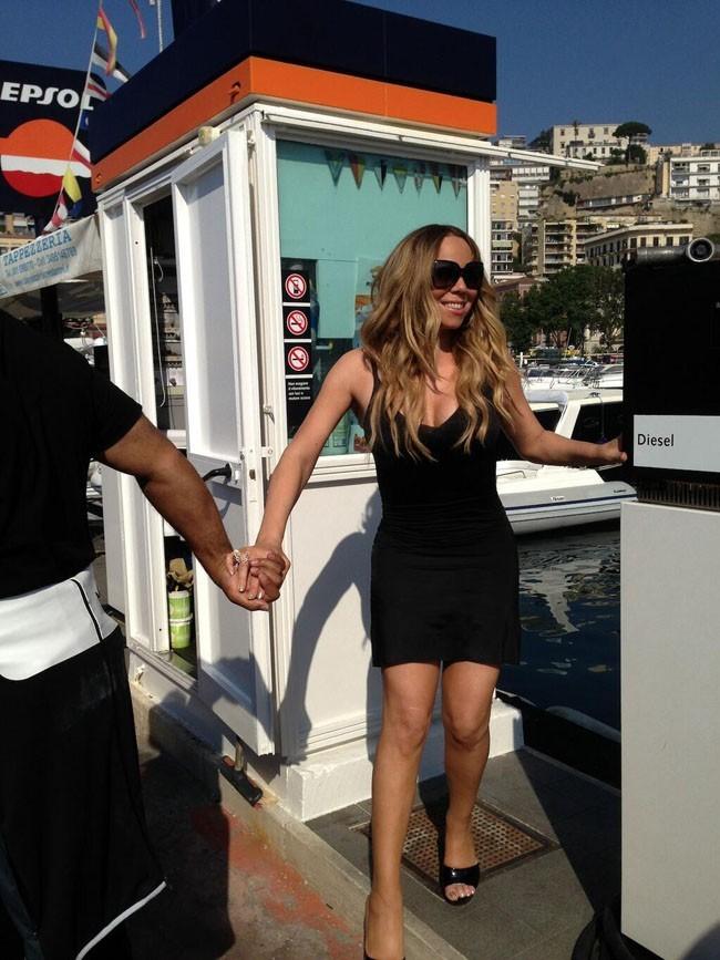 Mariah Carey en tournage avec Miguel à Capri le 17 juin 2013