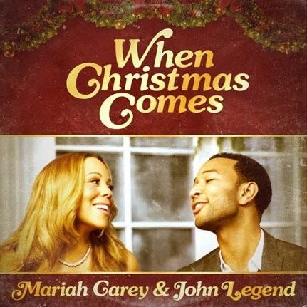 """Mariah Carey et John Legend sur la pochette du single """"When Christmas Comes"""" !"""