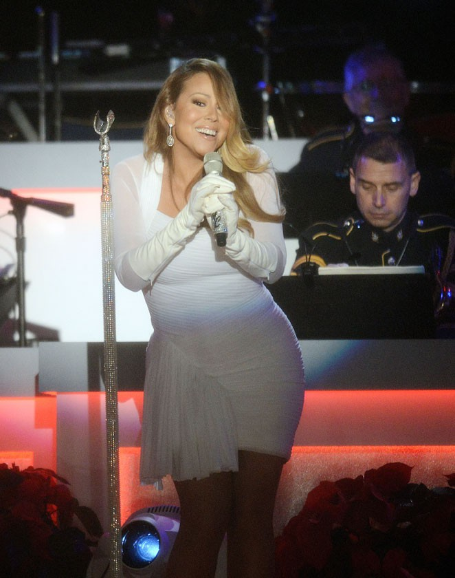 Mariah Carey à Washington pour l'inauguration du sapin national le 6 décembre 2013