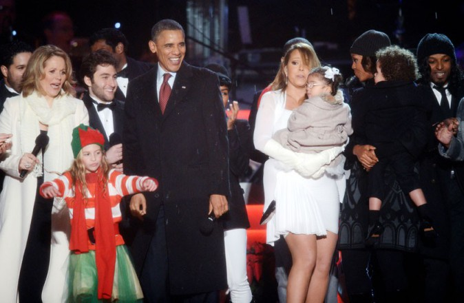Mariah Carey et sa fille Monroe à Washington pour l'inauguration du sapin national le 6 décembre 2013