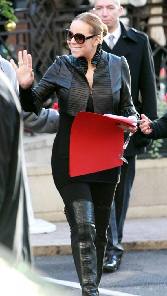 Mariah Carey à Londres hier !