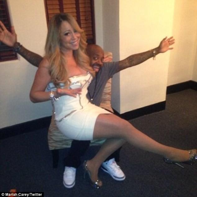 Mariah Carey et Jermaine Dupri dans les coulisses du concert des 20 ans du label So So Def !