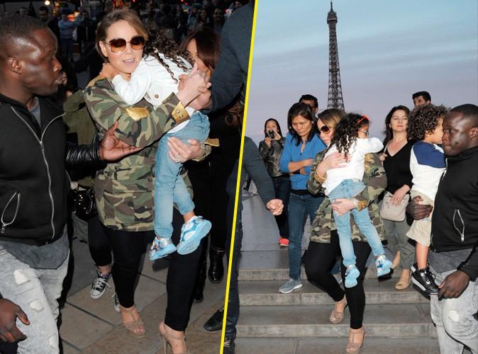 Photos : Mariah Carey joue les touristes devant la Tour Eiffel !