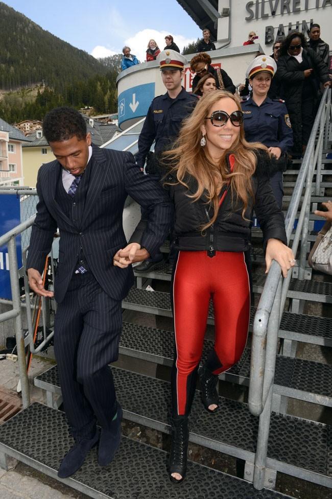 Mariah Carey et Nick Cannon à Ischgl en Autriche le 30 avril 2012