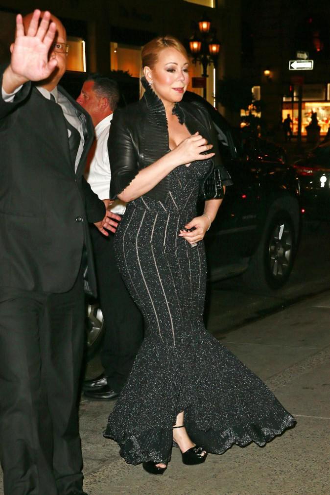 Mariah Carey à New York le 30 septembre 2015