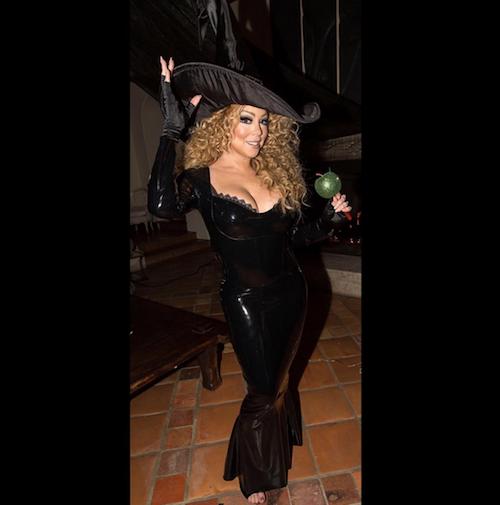 Photos : Mariah Carey : latex et décolleté, elle retrouve Nick Cannon pour Halloween !