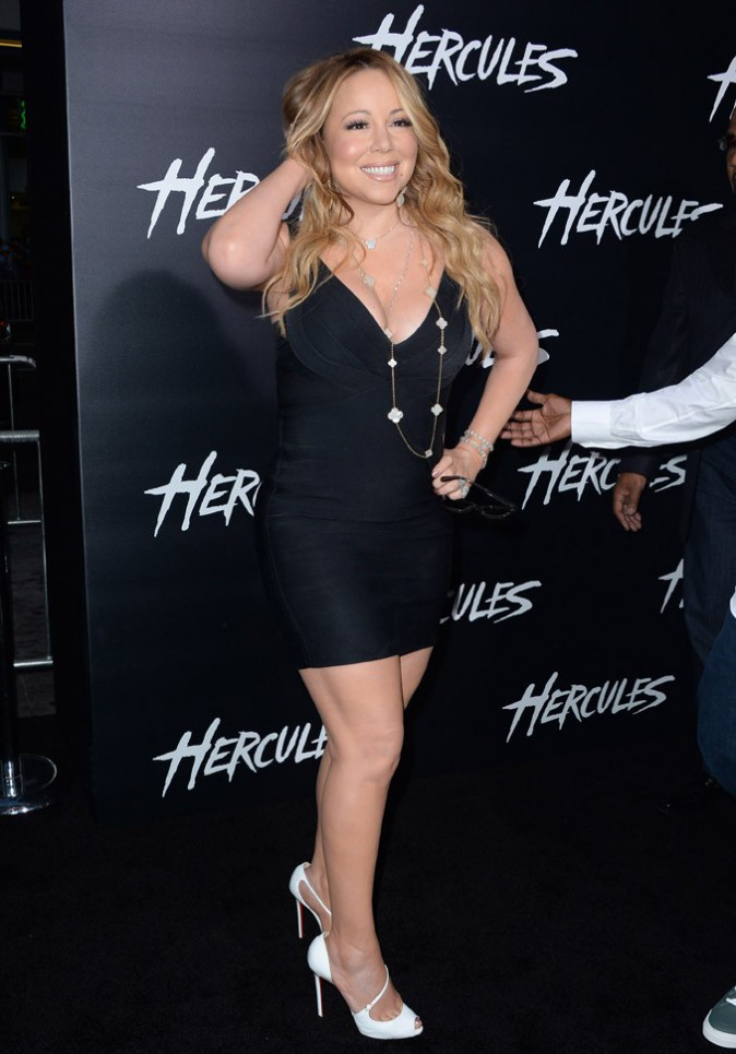 Mariah Carey à l'avant-première d'Hercule organisée à Los Angeles le 23 juillet 2014